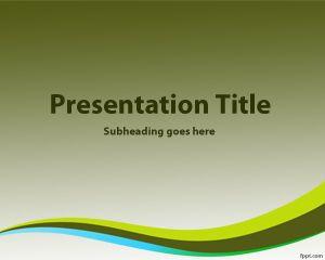 Plantilla PowerPoint con Fondo Verde PPT Template