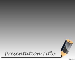 Pencil Background for PowerPoint PPT Template