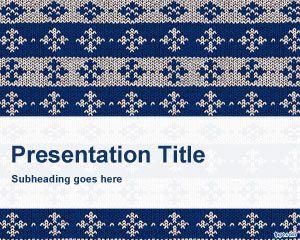 Plantilla PowerPoint de Tejido PPT Template
