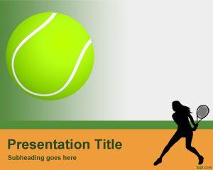 Plantilla PowerPoint de Tenis PPT Template