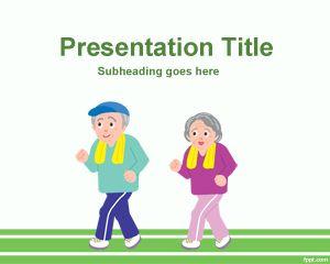 Plantilla PowerPoint de Atletas de la Tercera Edad PPT Template