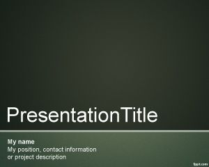 Diseño Formal para PowerPoint PPT Template