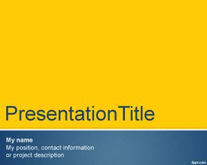 Tema Formal para Presentaciones PowerPoint PPT Template