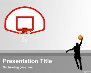 Plantilla PowerPoint de Baloncesto PPT Template