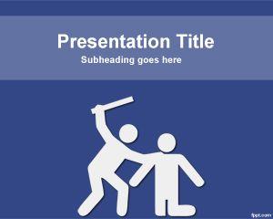 Plantilla PowerPoint en Contra de la Violencia