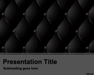 Dark Cushion Powerpoint Template