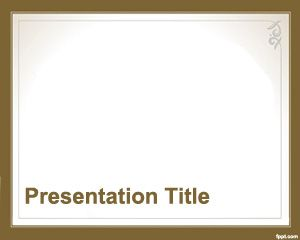 Estilo Formal para PowerPoint PPT Template