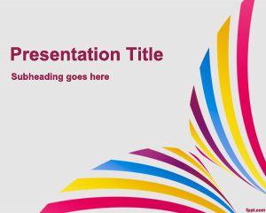 Twirl powerpoint template