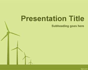 Plantilla PowerPoint de Energía Eólica PPT Template