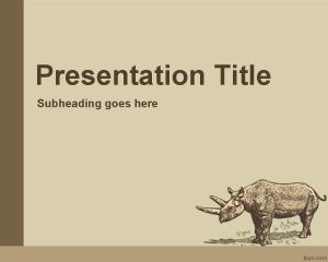 Animal History PowerPoint Template PPT Template