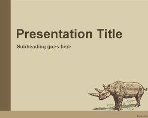 Plantilla PowerPoint de Animales Históricos PPT Template