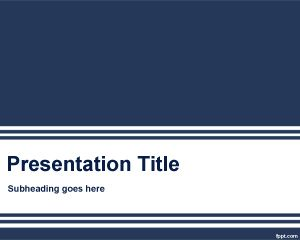 Plantilla de Microsoft PowerPoint Azul PPT Template