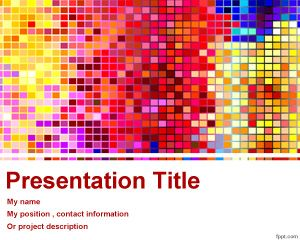 Fondo Colorido para PowerPoint PPT Template