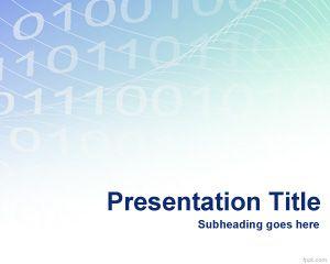 Plantilla PowerPoint de Códigos Binarios PPT Template