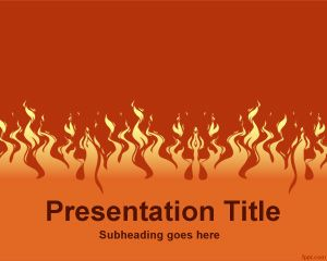 Free Fire PowerPoint Template with Flames
