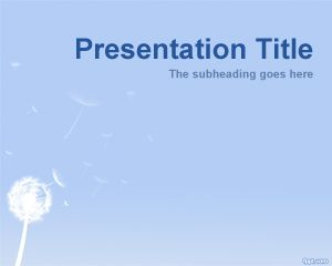 Plantilla PowerPoint de Diente de León PPT Template