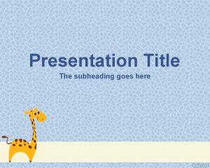 Plantillas PowerPoint de Jirafa PPT Template