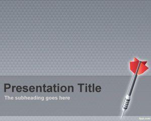 Plantilla PowerPoint de objetivos y metas PPT Template
