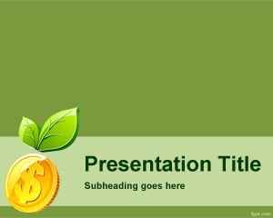 Green Money PowerPoint Template PPT Template
