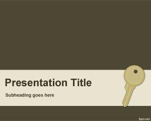 Plantilla PowerPoint de Llave PPT Template