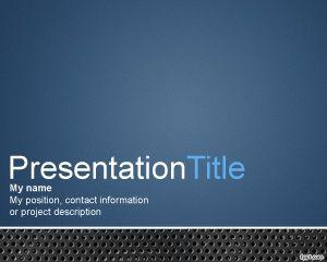 Plantilla PowerPoint con Fondo de Metal PPT Template