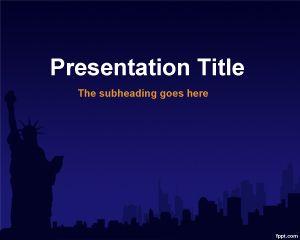 Plantilla PowerPoint de Nueva York PPT Template