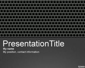 Plantilla PowerPoint de Metal Perforado PPT Template