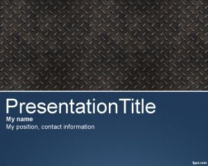 Pro PowerPoint Template with Metallic effect