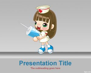 Sexy Nurse PowerPoint Template PPT Template