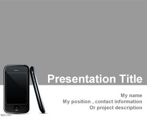Plantilla PowerPoint de Dispositivo Móvil PPT Template