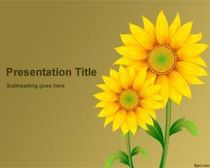 Plantilla PowerPoint de Girasoles PPT Template