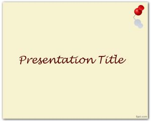 Thumbtack PowerPoint Template PPT Template