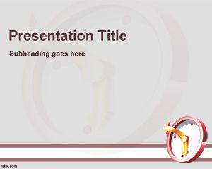 Time Management Training PowerPoint Template PPT Template