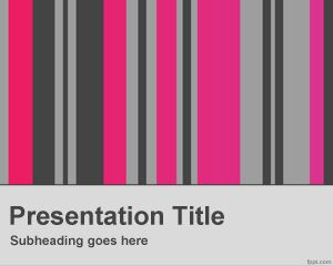 Vertical Columns PowerPoint Template