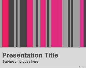 Plantilla PowerPoint con Columnas Verticales PPT Template