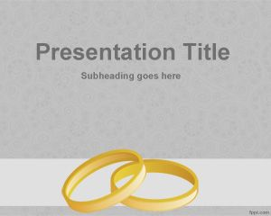 Wedding Rings PowerPoint Template PPT Template