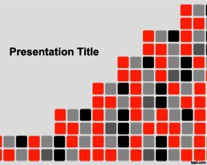 Plantilla PowerPoint con diseño de Pixeles PPT Template