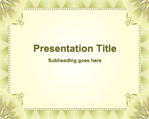 Plantilla de Microsoft PowerPoint Formal PPT Template