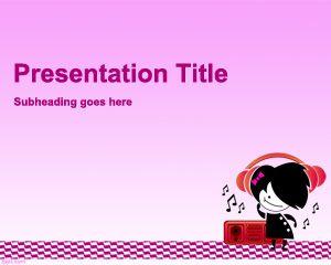 Teen Music PowerPoint Template PPT Template