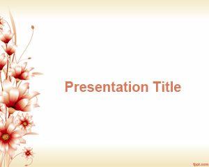 3d Flower PowerPoint Template PPT Template