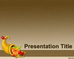 Plantilla PowerPoint para Recetas del día de Acción de Gracias PPT Template