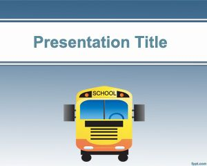 School Bus PowerPoint Template PPT Template