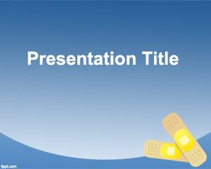 Band Aid PowerPoint Template PPT Template
