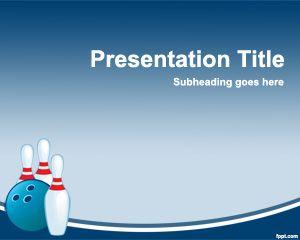Plantilla PowerPoint de Bowling PPT Template