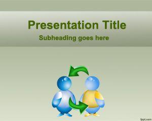Plantilla PowerPoint de Cooperación Mutua Gratis PPT Template