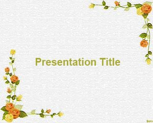 Flower Models PowerPoint Template PPT Template
