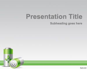 Green Energy PowerPoint Template PPT Template