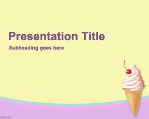 Plantilla Powerpoint de Helado PPT Template