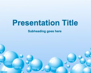 Free Life PowerPoint Template with bubbles