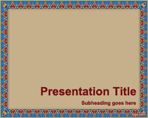 Free Pattern Border PowerPoint Template